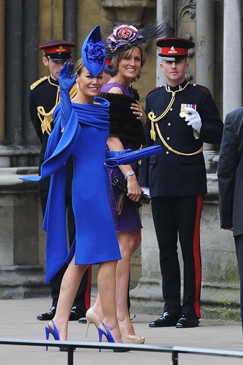 At the royal wedding in 2011.