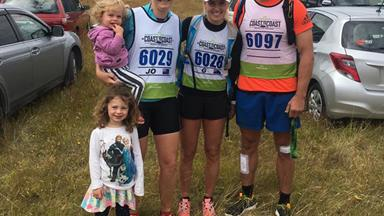 Newly weds Richie and Gemma McCaw take on tough mountain race