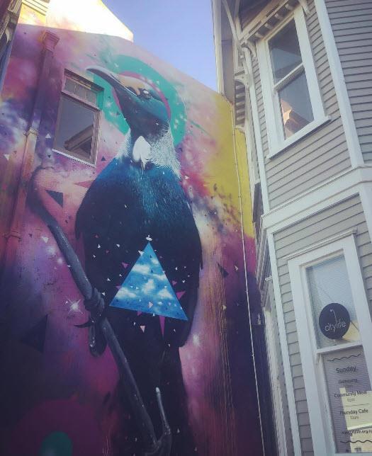 Street art adorns New Plymouth's walls