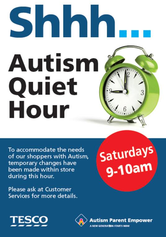 Autism Parent Empower has teamed up with Tesco for the quiet hour