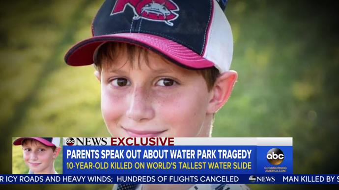 Parents of boy decapitated on water slide get $29 million settlement
