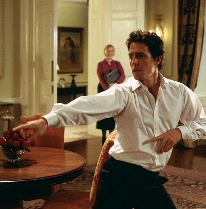 Hugh Grant won hearts as the British Prime Minister
