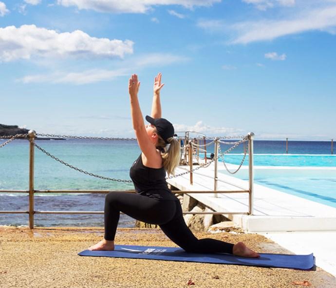 Outdoor yoga is a breath of fresh air.
