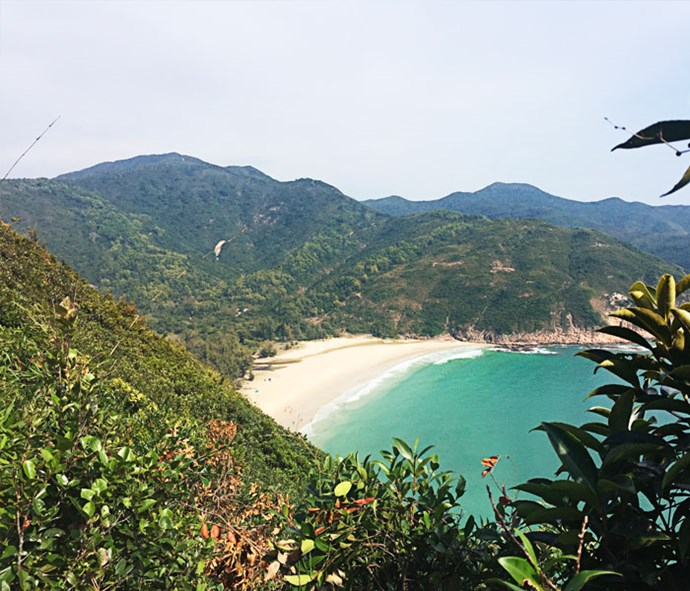 The stunning Long Ke beach is one of the tantalising views from the Sai Kung trail.