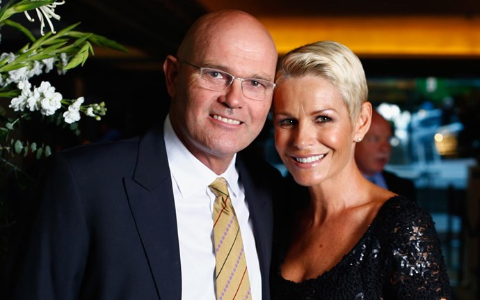 Martin Crowe and Lorraine Downes