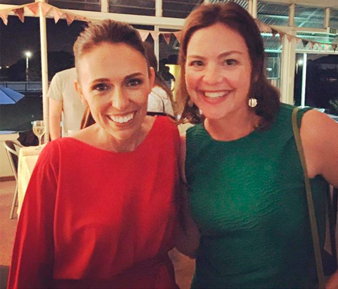 What rivalry? After hitting the campaign trail side by side, Julie Anne also attended Labour MP Jacinda's victory party.