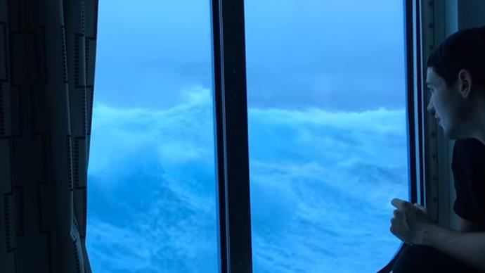 WATCH: Cruise ship hit by 9m waves