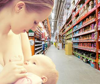 The Warehouse praised for new breastfeeding policy