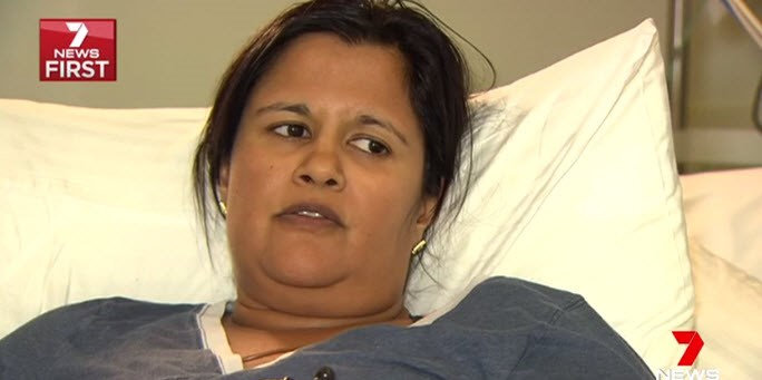 Poonja Newman says she almost died from the reaction