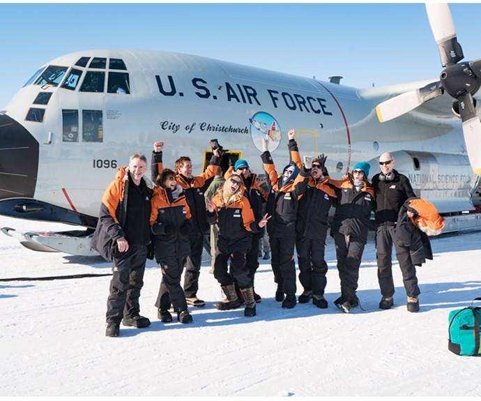 Very happy TEDx ScottBase speakers land in Antarctica.