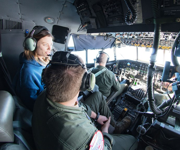 Gin Wigmore speaks with LC130 pilots as they fly over the continent.