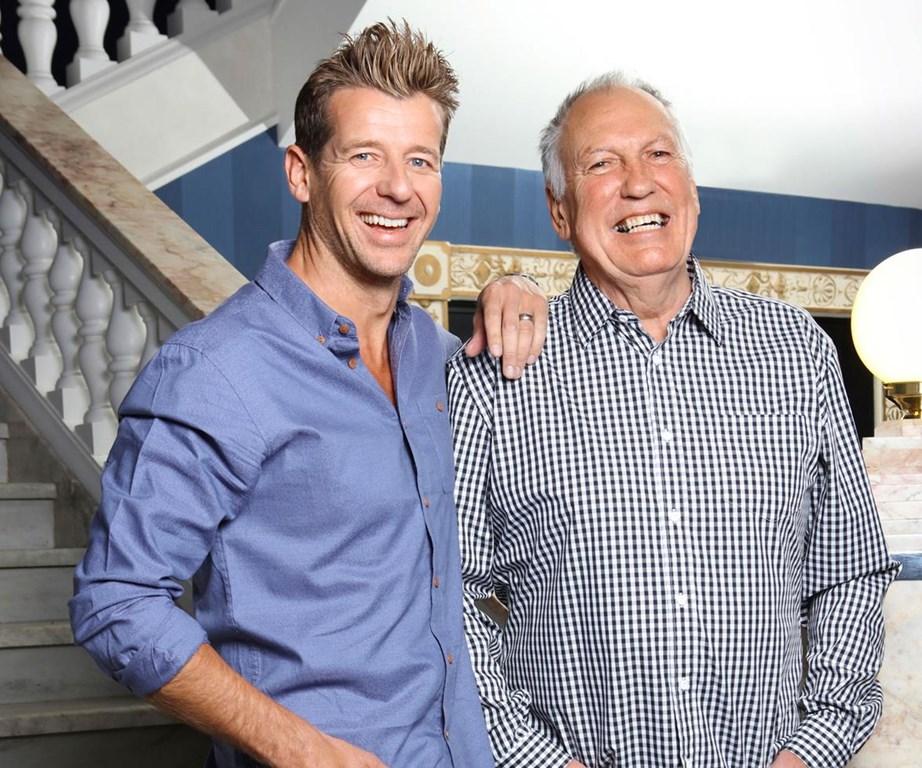 Simon and his co-host Gary McCormick.