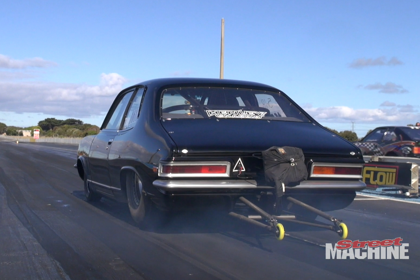 VIDEO: GORGEOUS HENLEY CHASSIS TORANA DRAG CAR
