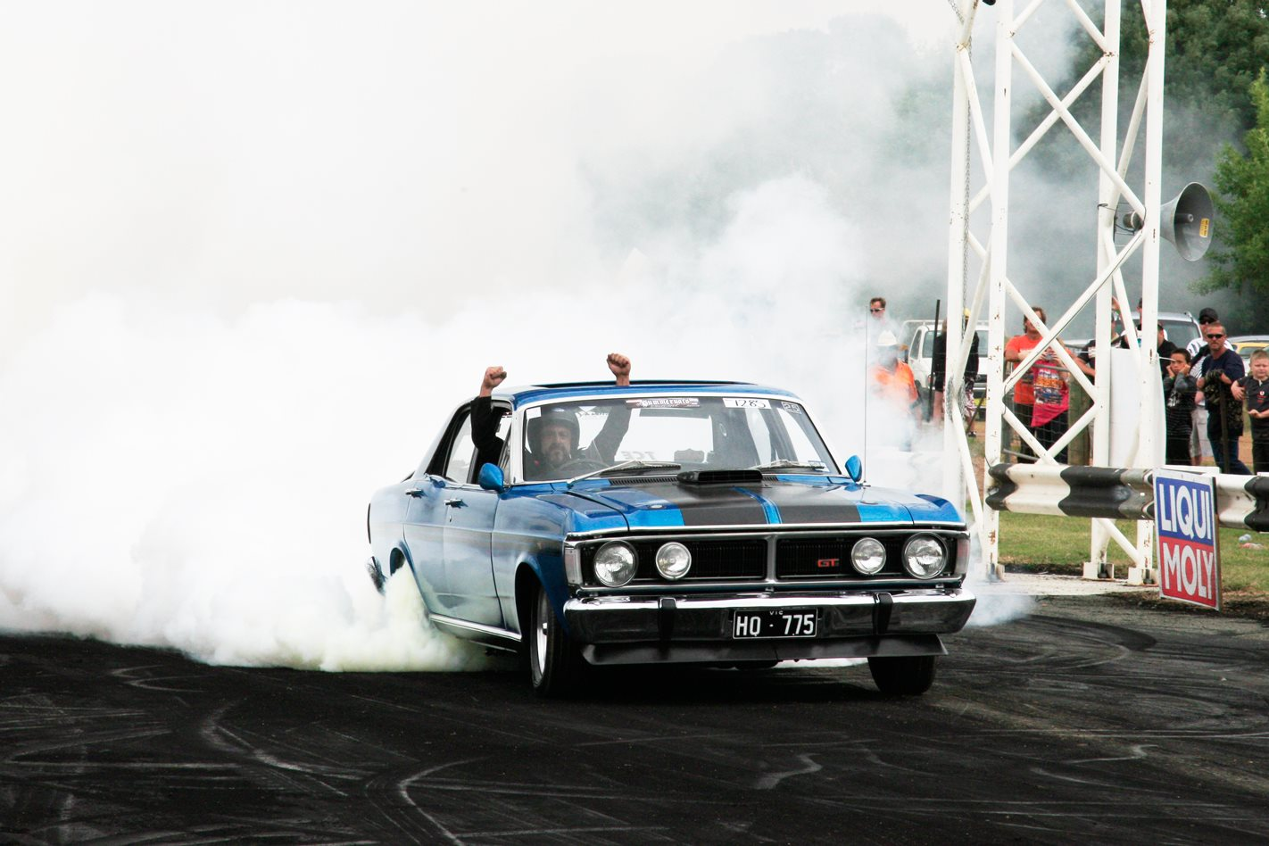 Ford XY GTHO burnout