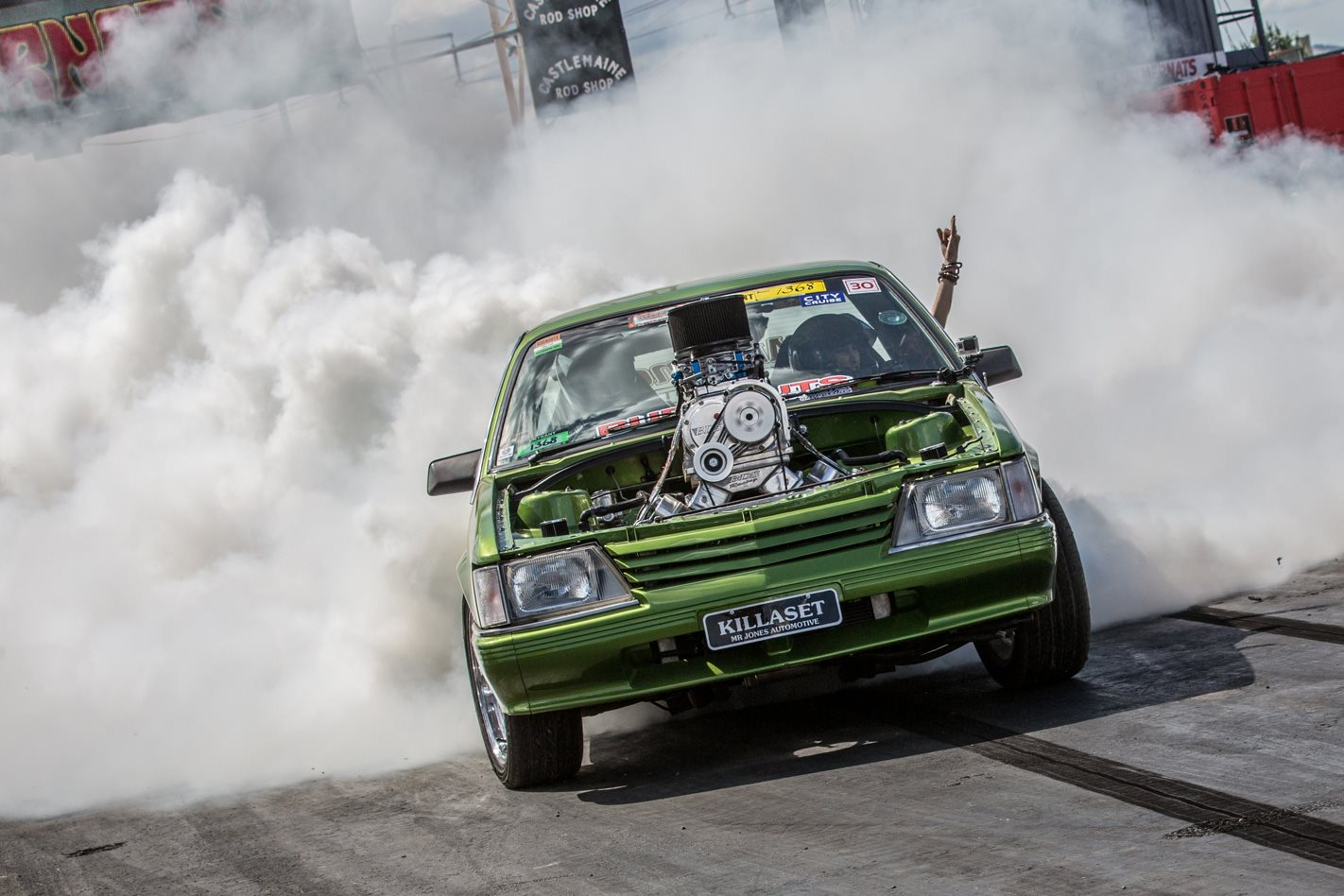 VK Commodore blown burnout KILLASET