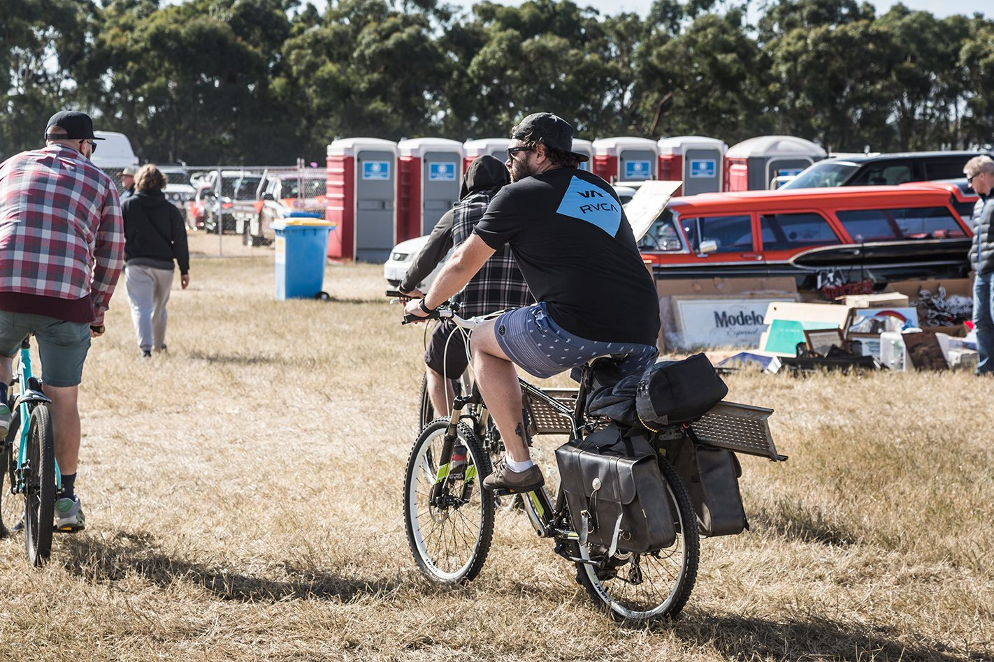 Ballarat swap meet on bicycle