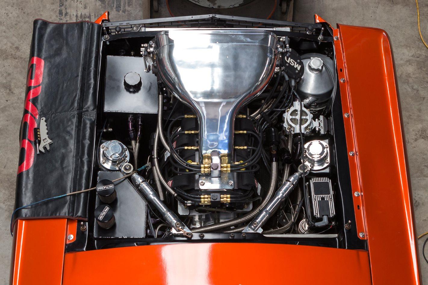 Sicko Mustang engine bay