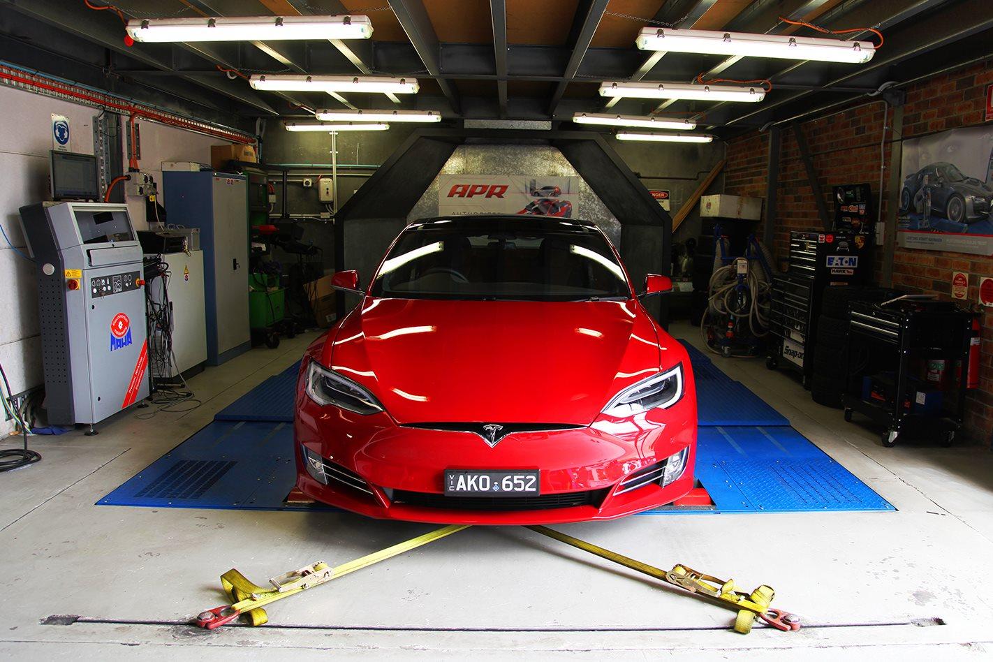 Tesla on dyno 3