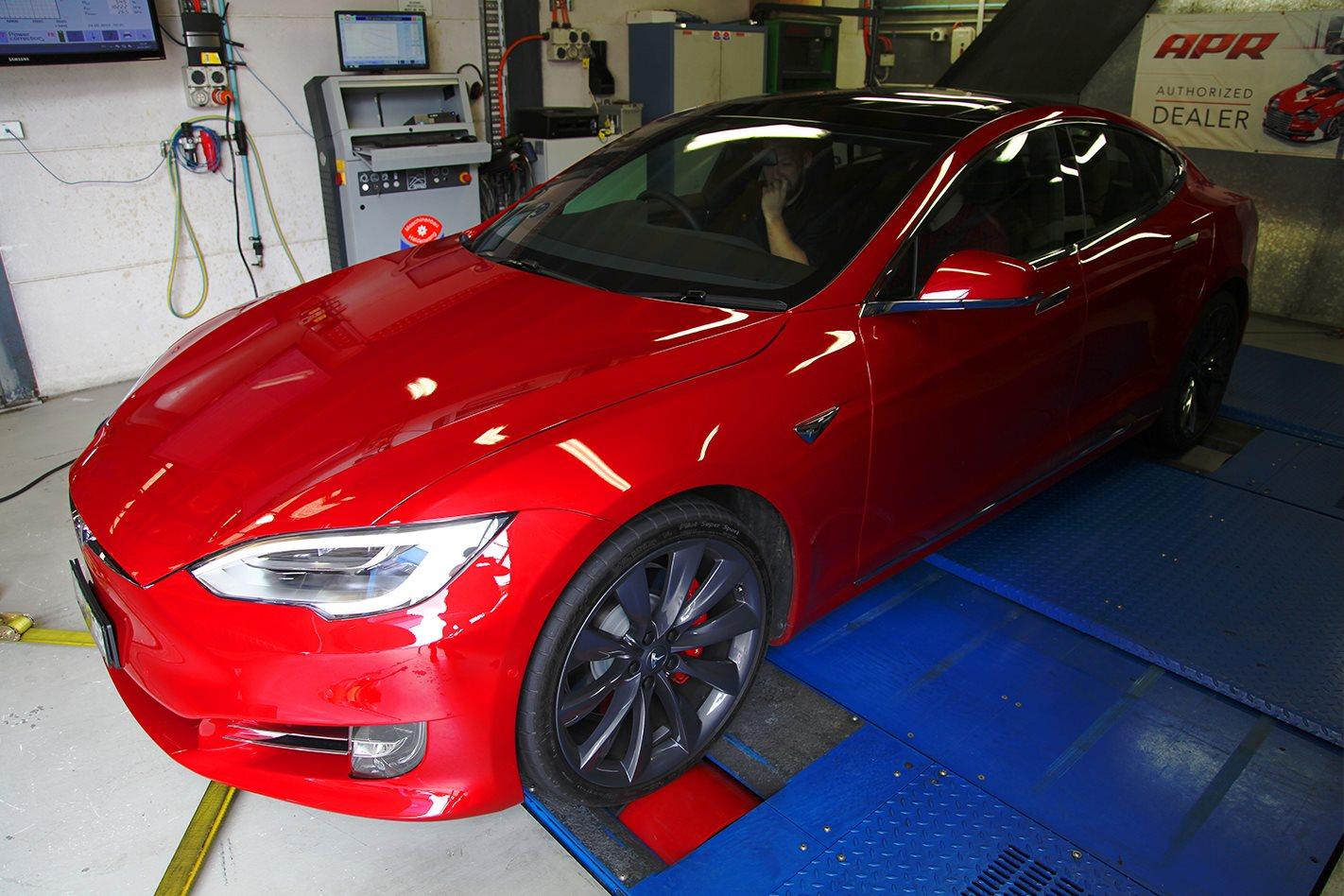 Tesla on dyno