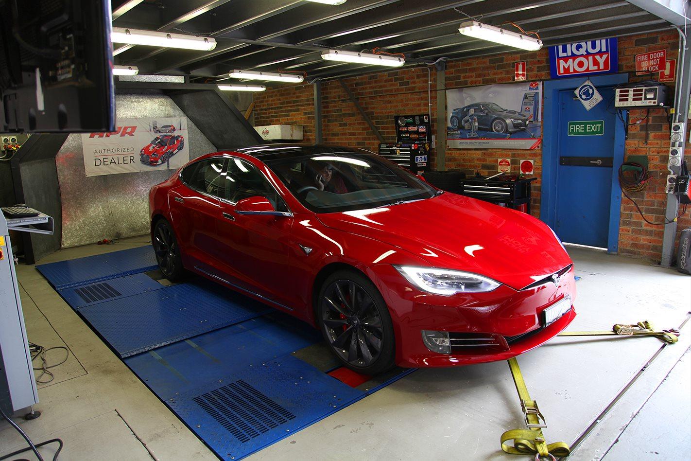 Tesla on dyno 2