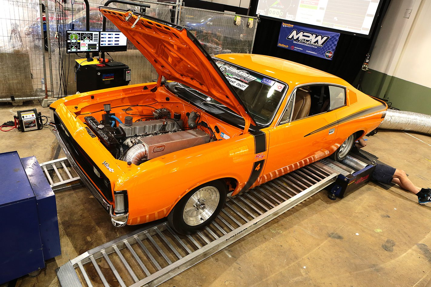 Chrysler VH Charger on the dyno