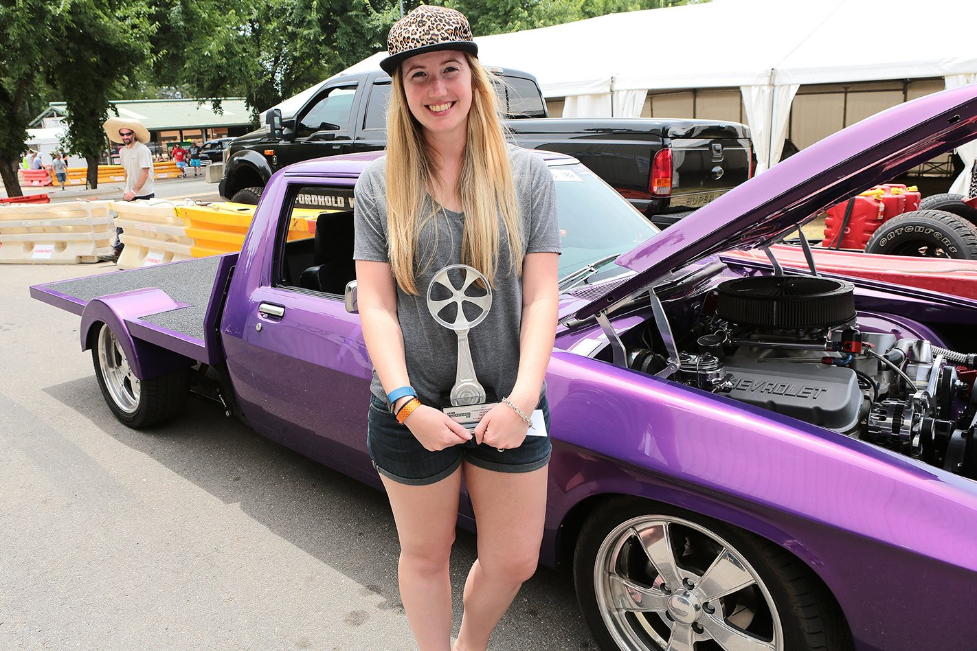 Karly Van and her Holden one-tonner