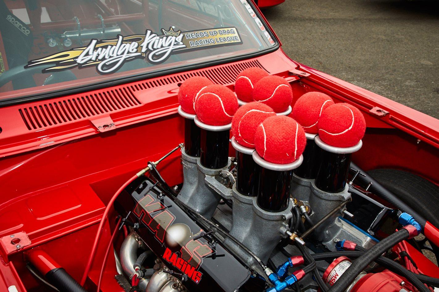 Holden LJ Torana drag car engine