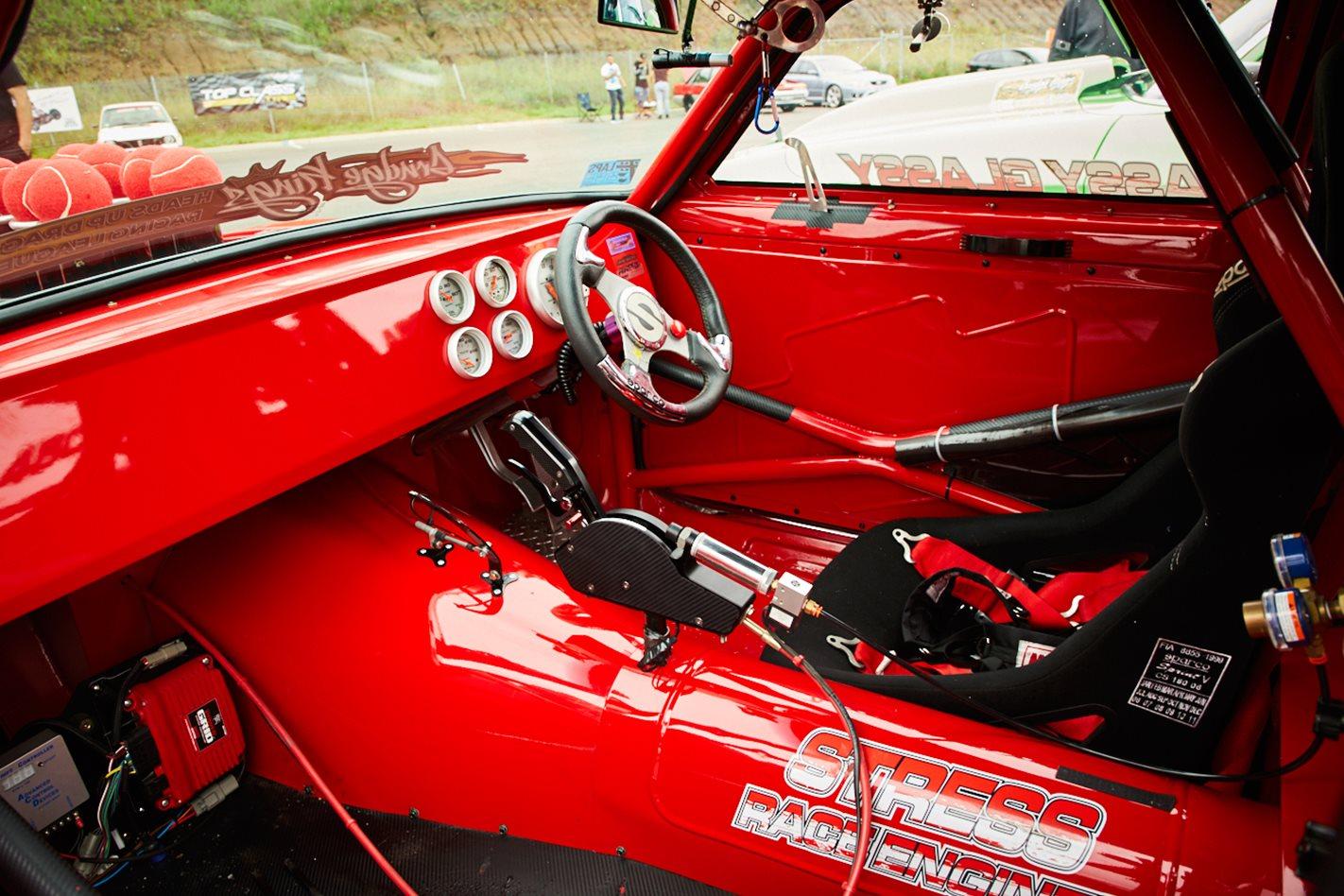 Holden LJ Torana drag car interior