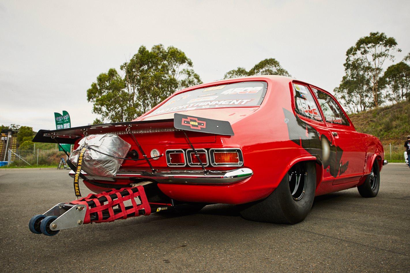 Holden LJ Torana drag car rear