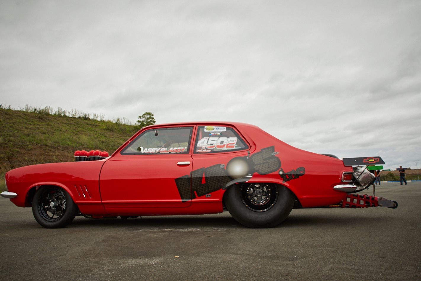 Holden LJ Torana drag car side