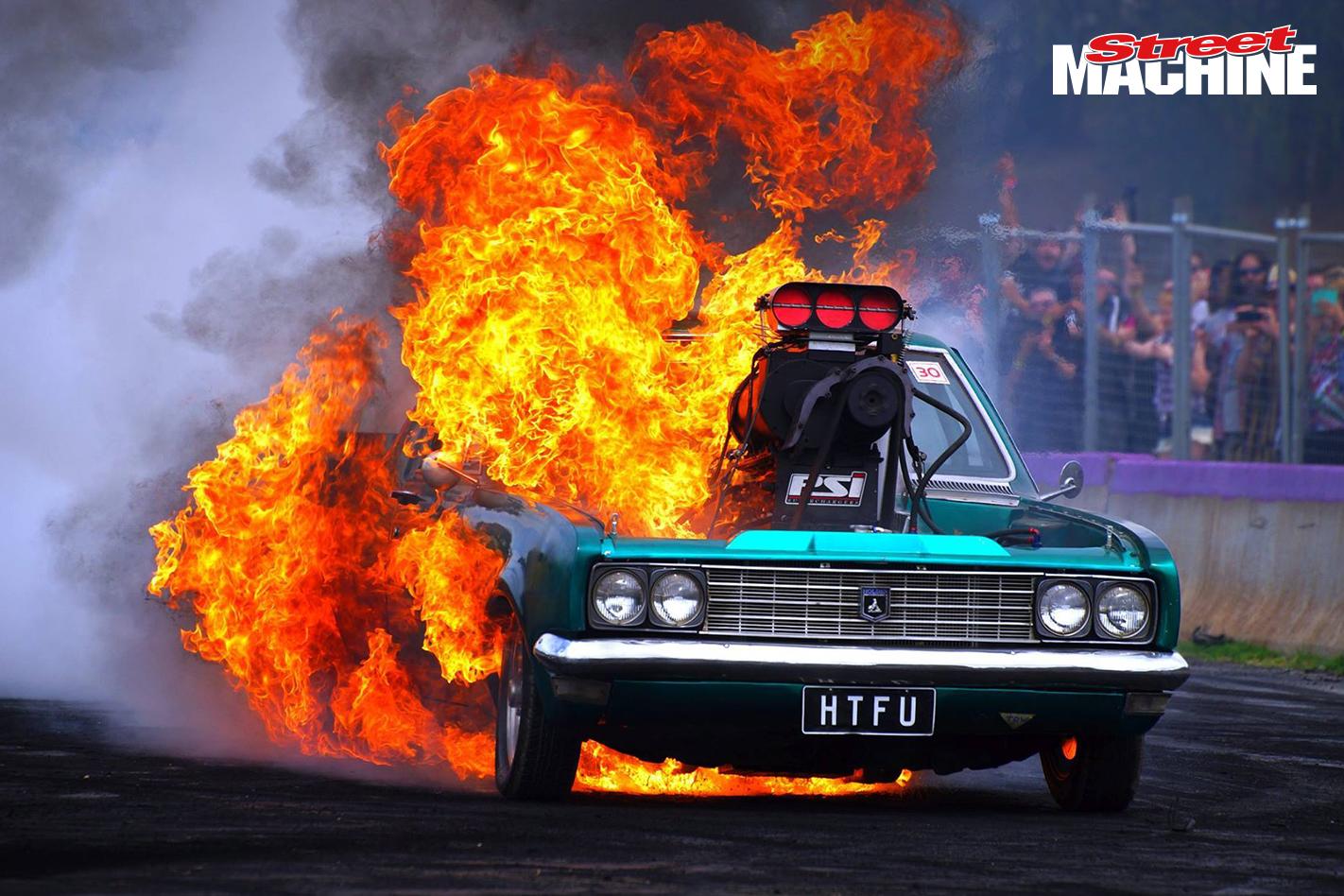 Massive Engine Fire At Lardner Park Motorfest Video
