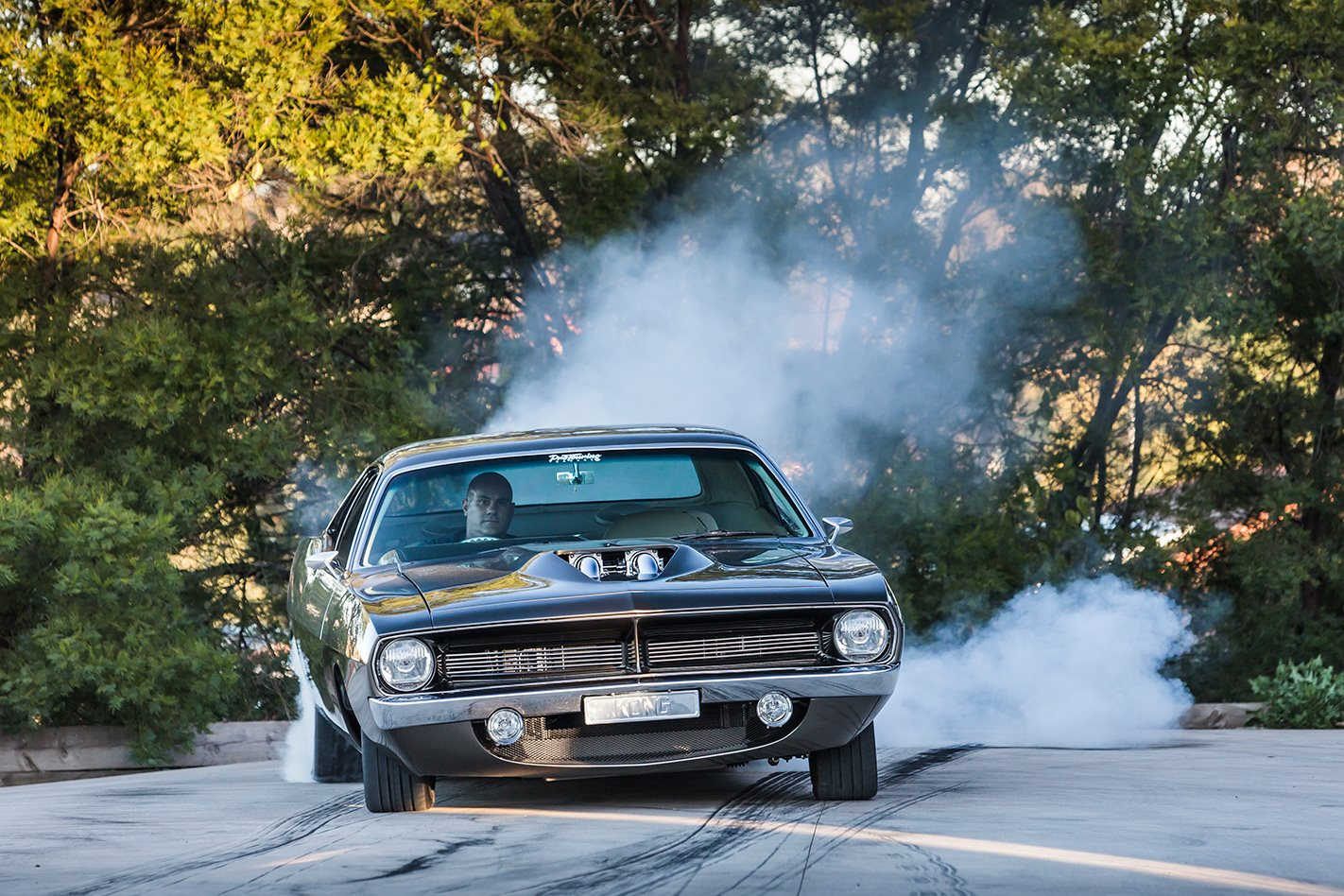 King Kong Cuda burnout