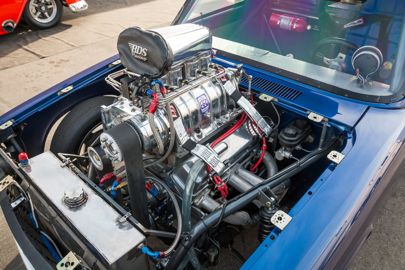 Scott Bisel's Chevy engine