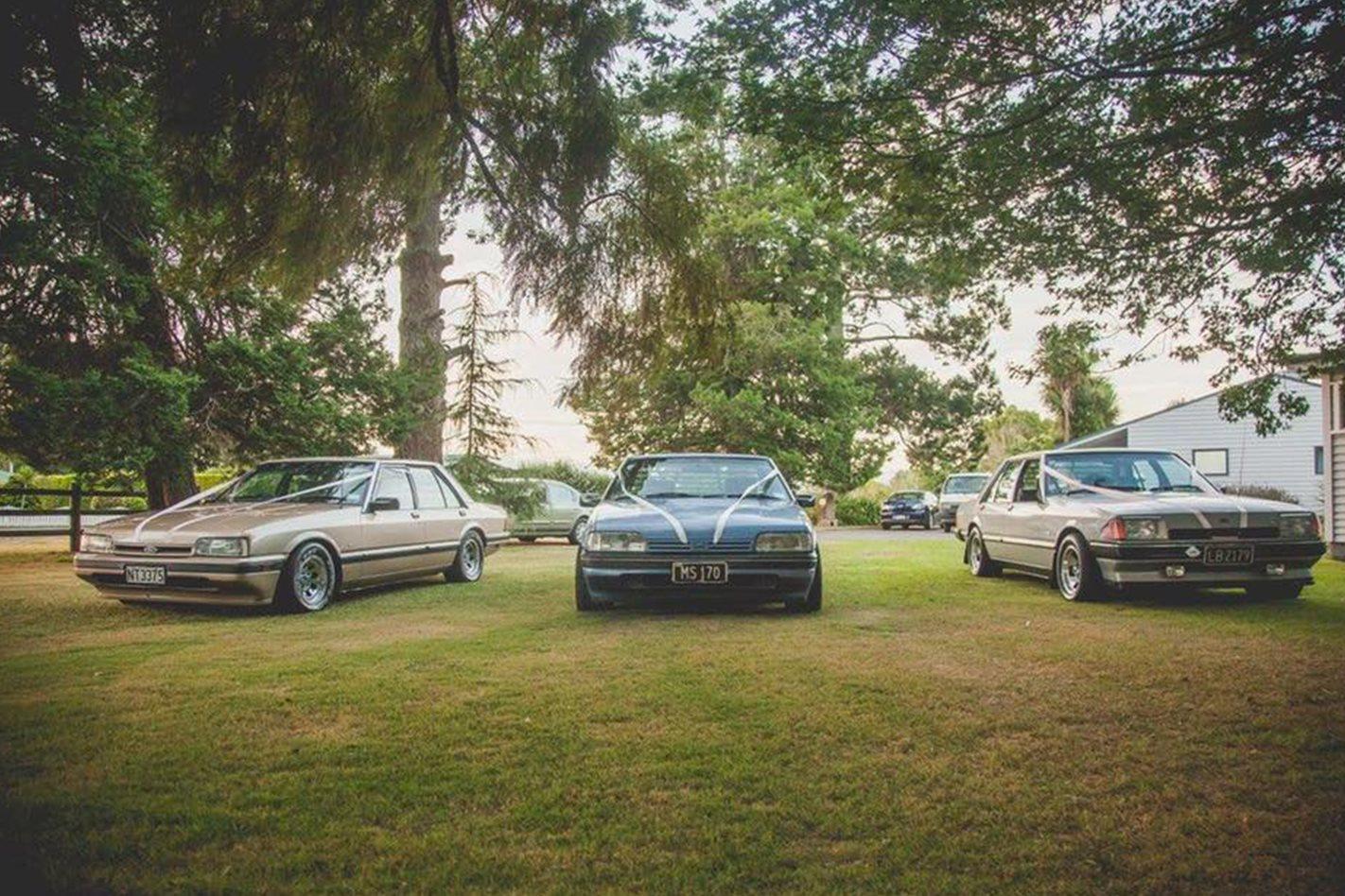 Kelsay Garaway's Falcon wedding cars