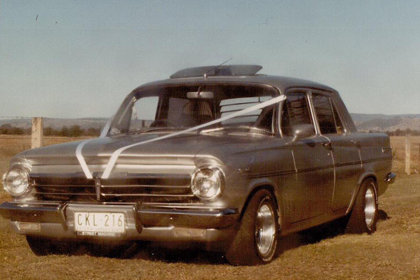 Mon Gambrell's Holden wedding car
