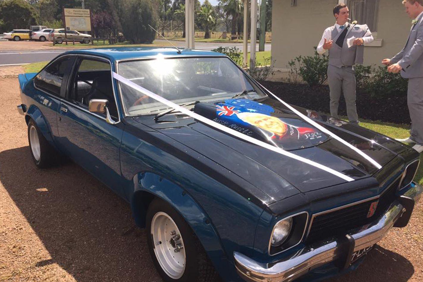Daniel Aitchison's Torana wedding car