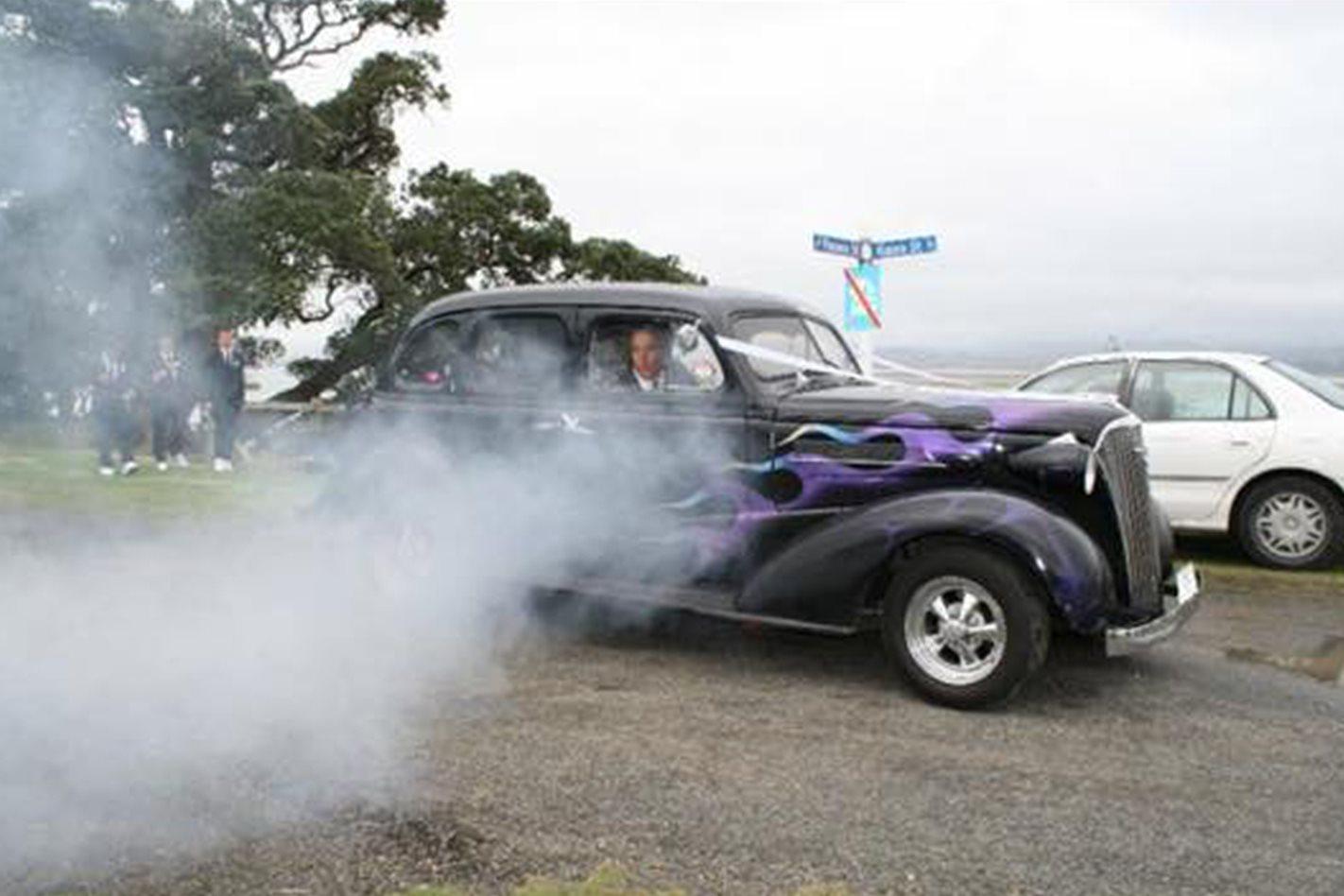 Paul Howell Chevrolet wedding car
