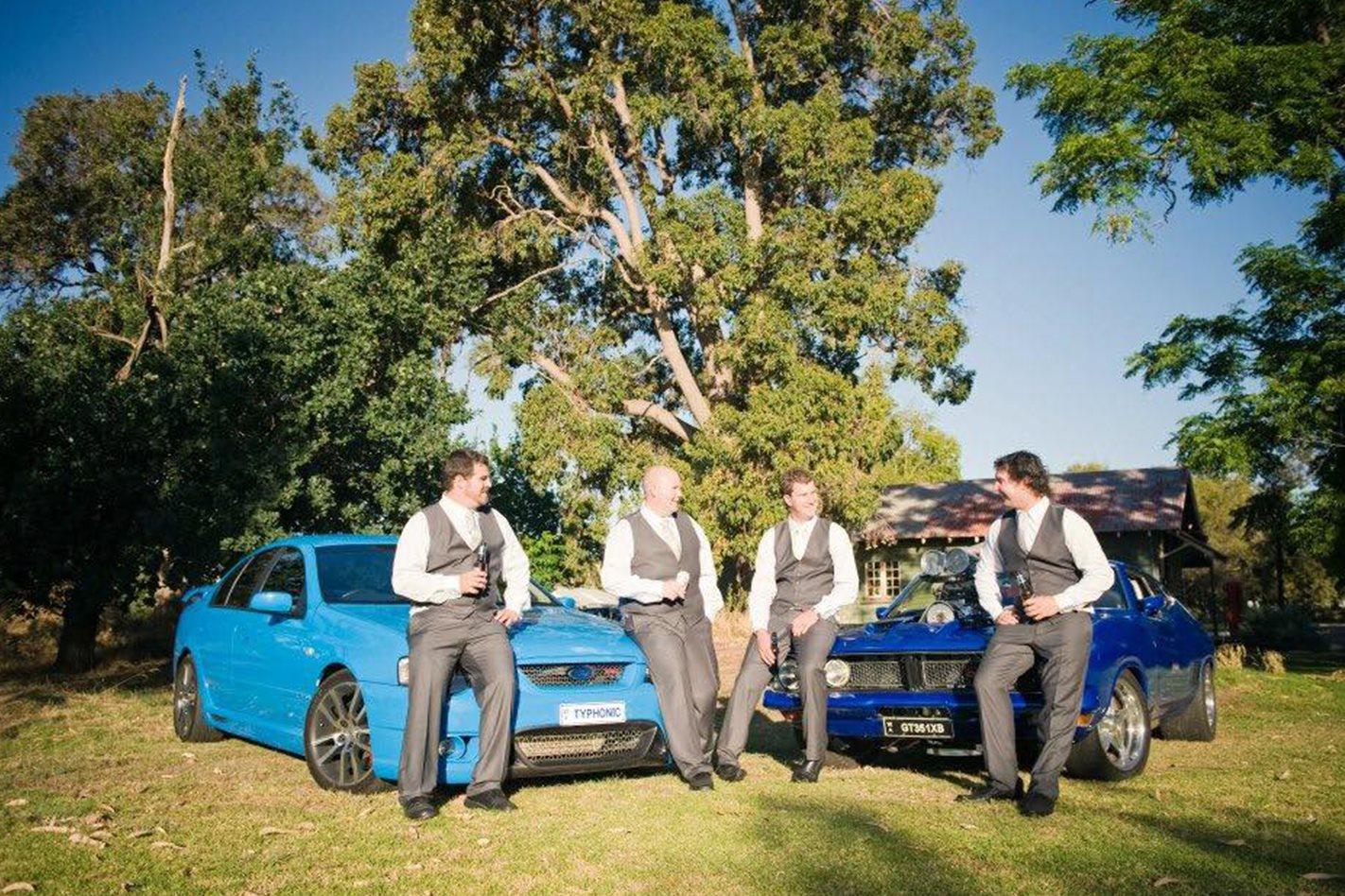Chris Nardini's wedding cars