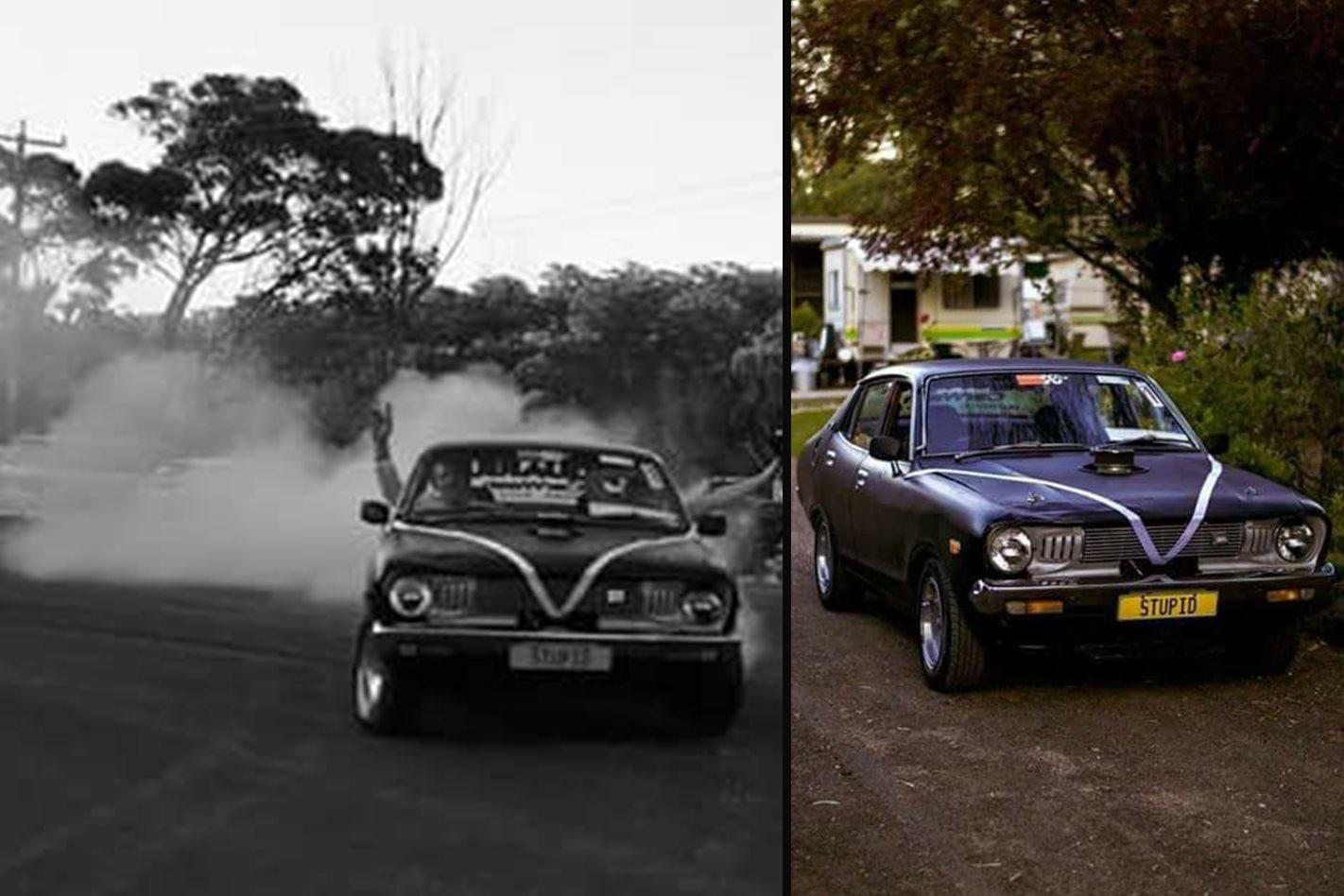 Tony Purcell's wedding car