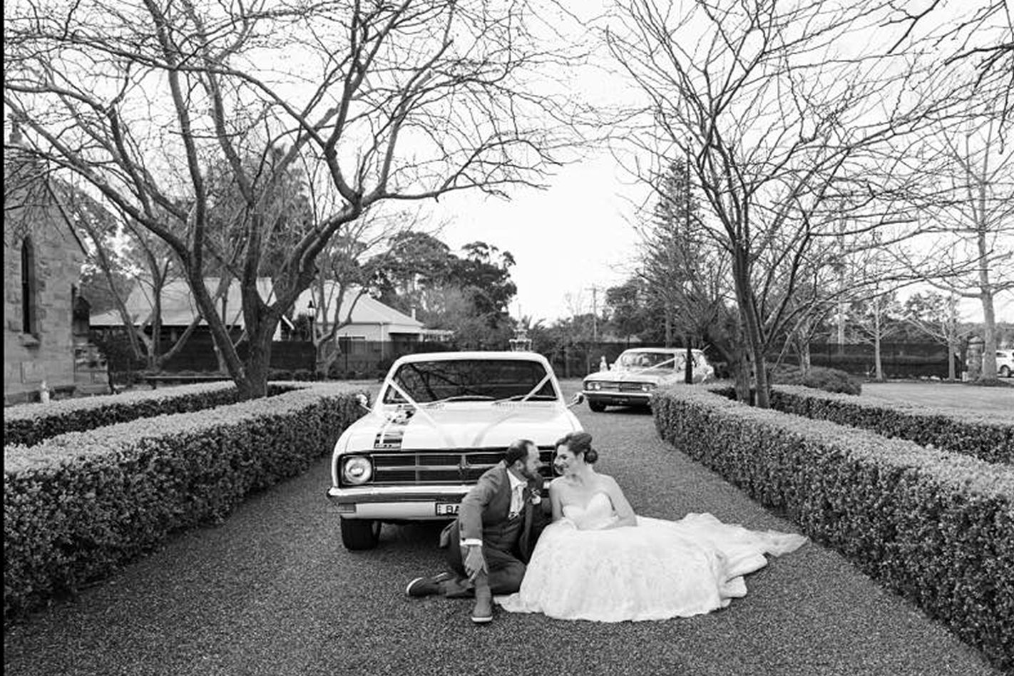 Chad Sansom's Monaro wedding cars