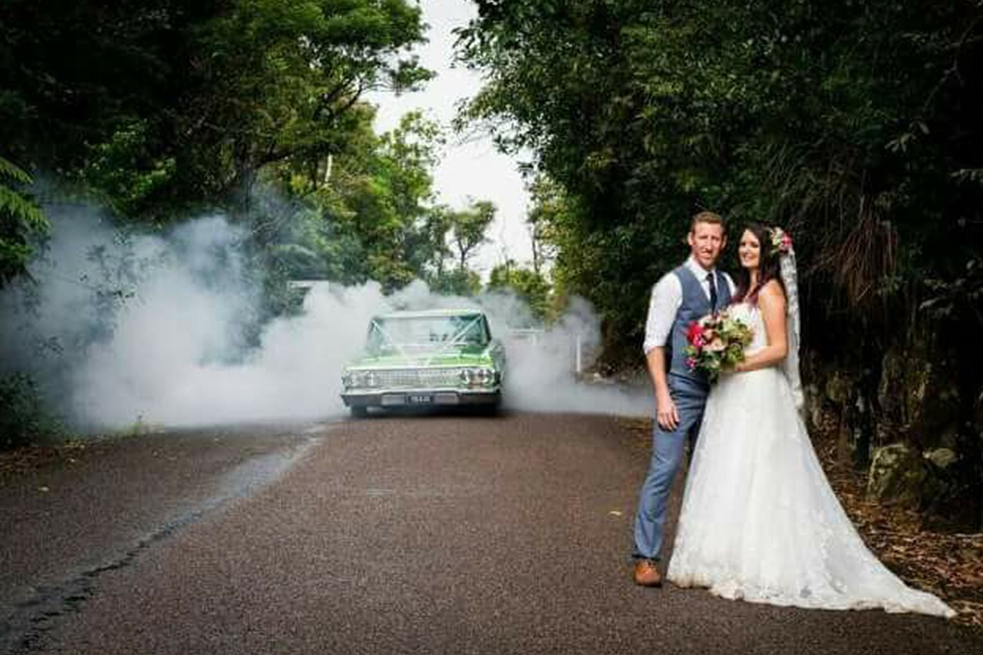 Luke Coble's Impala wedding car