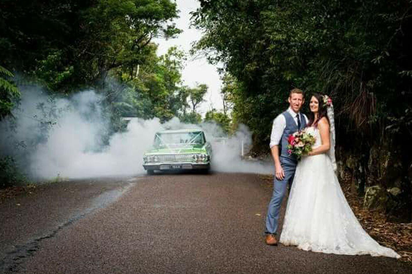 Luke Coble's Impala wedding car