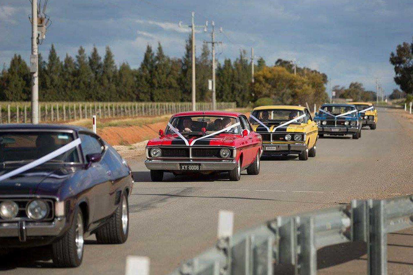 Braeden Hetherington's wedding cars