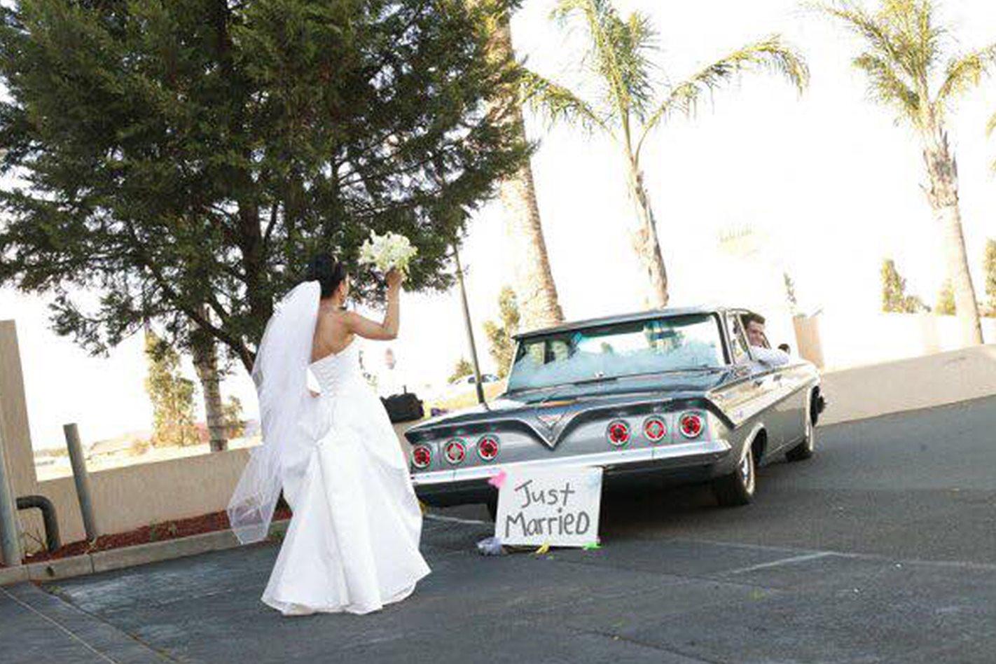 Victor's wedding car