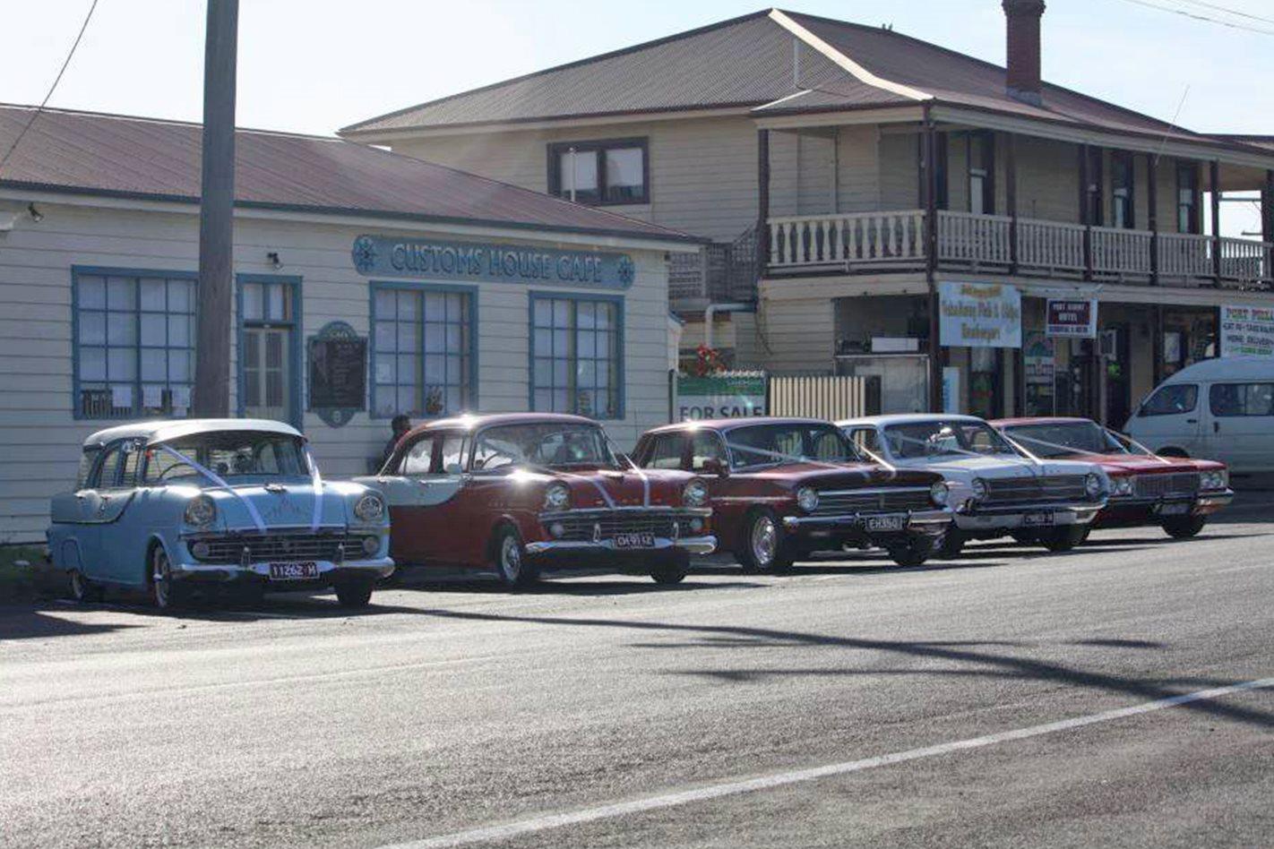 Daryl Hearn's wedding cars