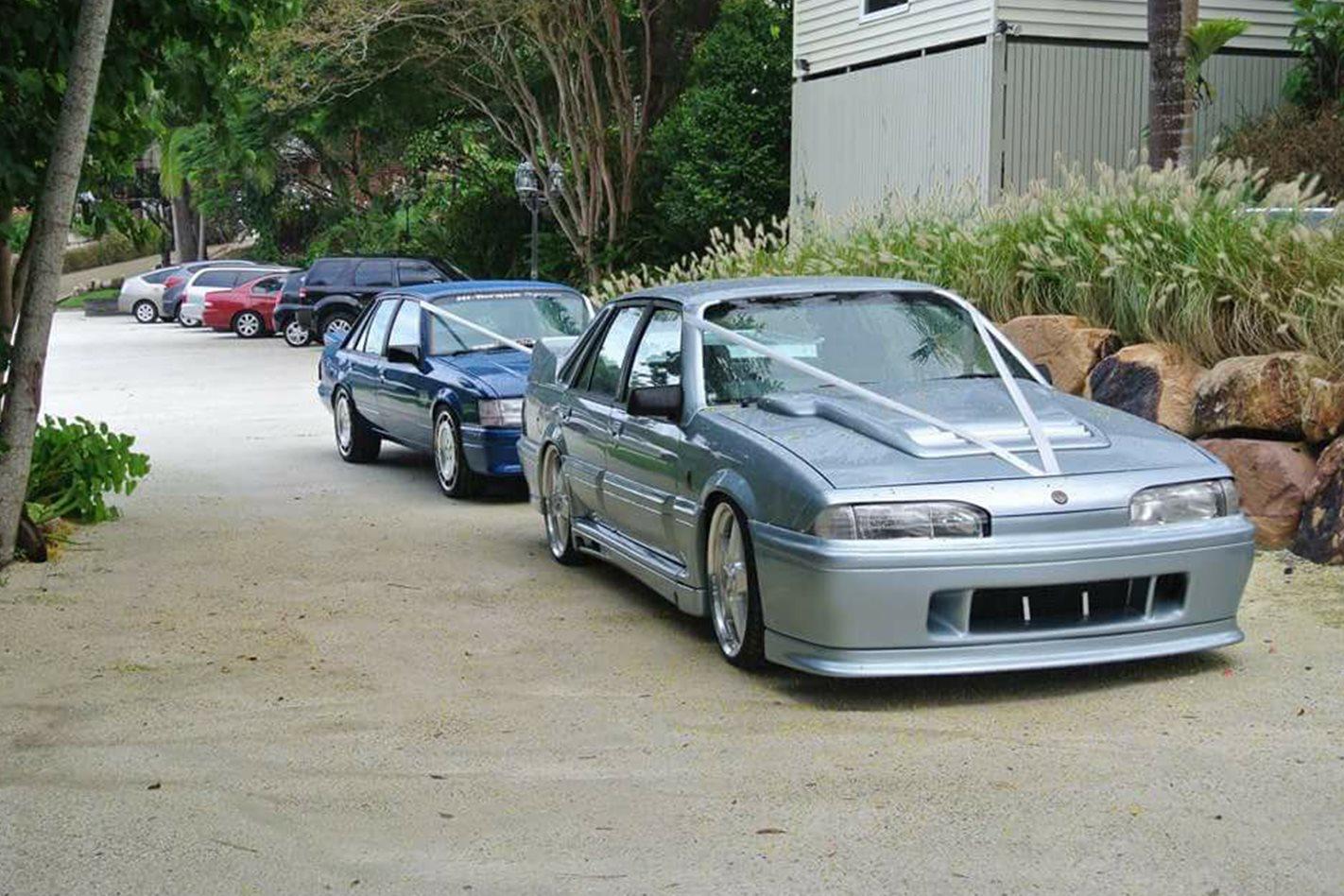 C Jemma N Rusty's wedding cars