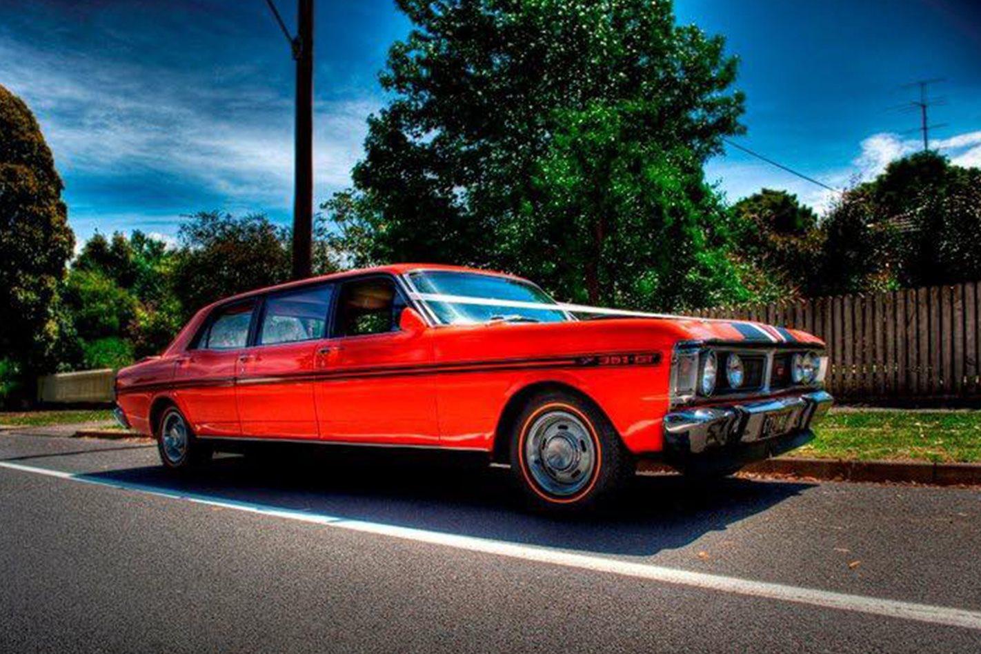 Justin Miller's Falcon limo wedding car
