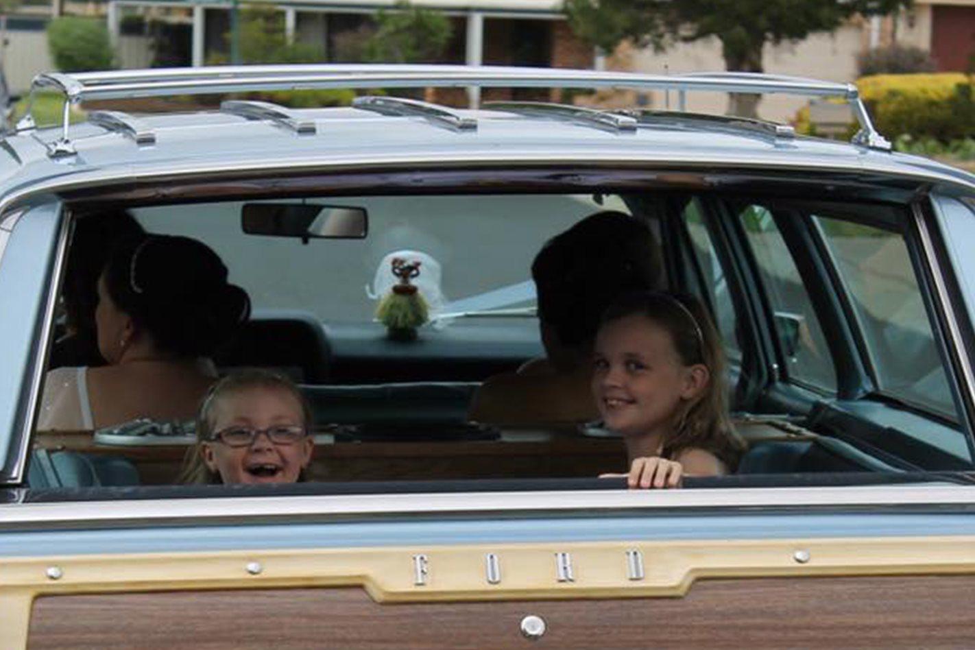 Daniel Chalker's wedding car
