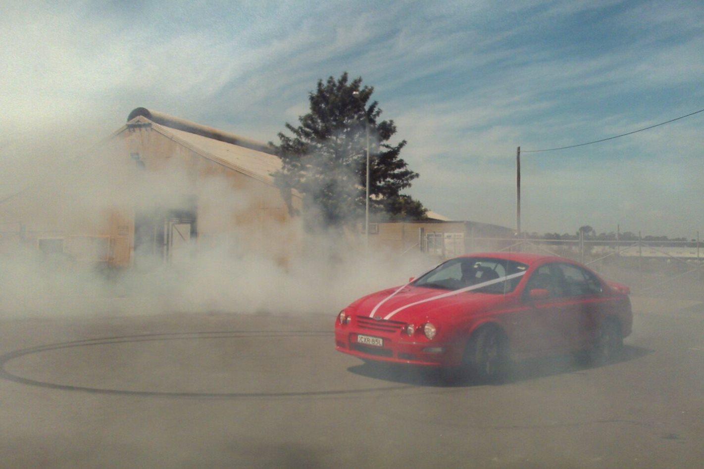 Dean Morton's Falcon wedding car