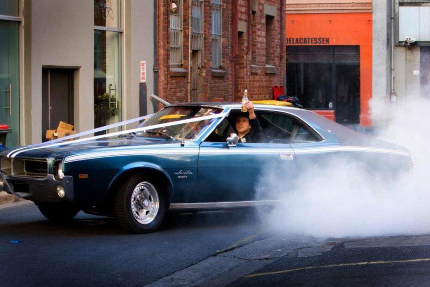 Adam Ciplys's wedding car